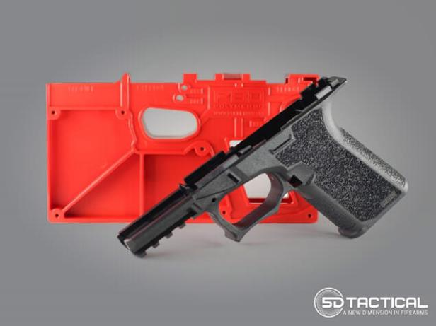 Tactical glock pistol lower parts.