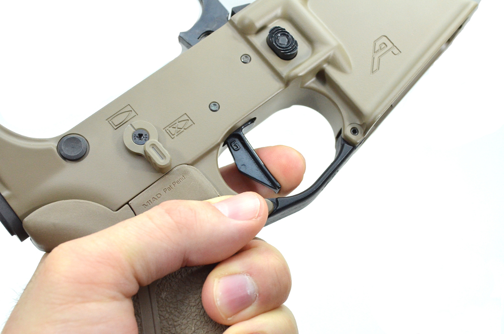 geiselle trigger in a aero precision lower receiver