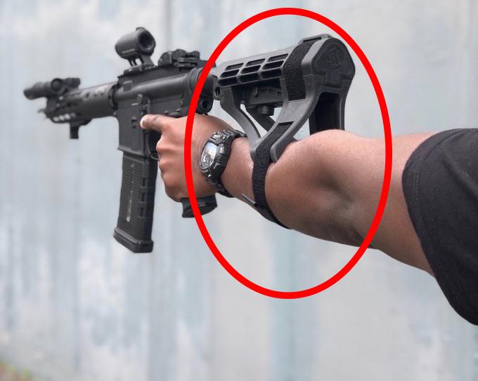 pistol stabilizing brace ar15